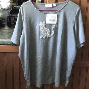 Quacker Factory Cat Shirt